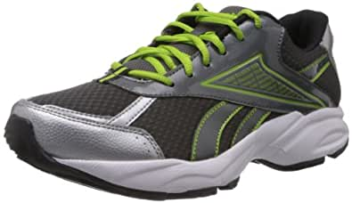 Reebok Men's Linea Lp Grey and Silver Mesh Running Shoes  - 6 UK