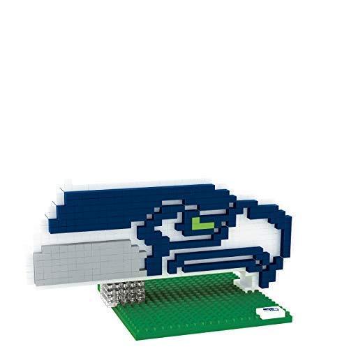 FOCO Seattle Seahawks Logo NFL 3D BRXLZ Juego de construcción