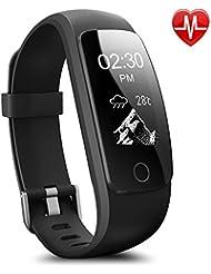 Willful Montre Connectée Femme Homme Enfant Bracelet Connecté Smartwatch Podometre Cardiofrequencemetre Etanche IP67 Trackers d'activité Cardio Chronomètres pour Android iOS iPhone Samsung Huawei