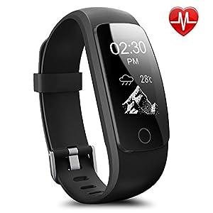 Montre Connectée,Willful SW331 Bracelet Connecté Fitness Tracker d'Activité Montre Cardio Sport avec Cardiofréquencemètre,Sommeil,Podomètre,Calories,Mode multi-sport pour iPhone Android Femme Homme