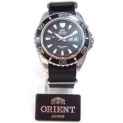 Orient CEM75001B-Nato-Leder - Reloj de pulsera Hombre, Cuero, color Negro