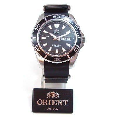 Orient Herren-Armbanduhr Analog Automatik Leder CEM75001B-Nato-Leder
