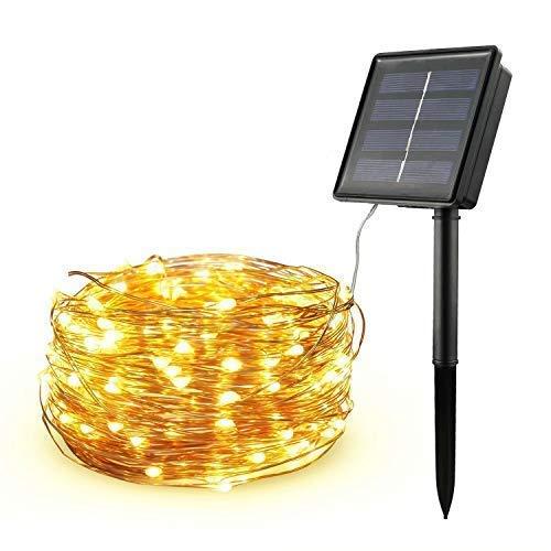 Diswoe Cadena Luces Solares Guirnalda Luces Solares 200 LED/8 Modos/20M IP65 Impermeable...