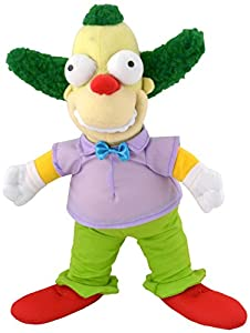 United Labels AG 1001400-The Simpsons, Peluche Krusty The Clown, 31cm