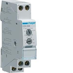 Hager ezn006–Rele temporisé multifonction 10A Courant alternatif/courant continu
