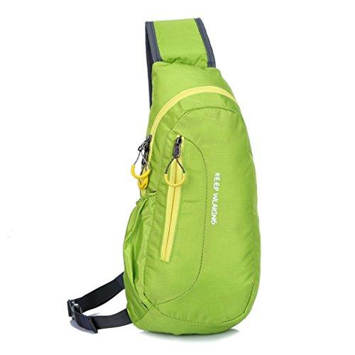 Imagen de hongxing sling bolsa pecho hombro desequilibrio gimnasio fanny  saco bolso al aire libre para bicicleta, verde