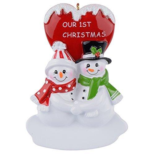 nsere 1st Christmas Schneemann Paar Personalisierte Ornament ()