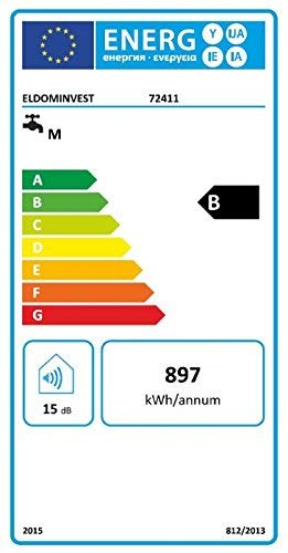 Eldom 72411 50 Liter Warmwasserspeicher 2 kW. Electronic Control, [Energieklasse B]