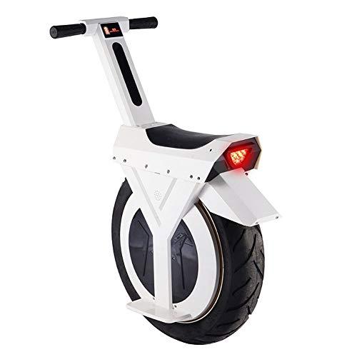 LHLCG Elektro-Einrad -17 Zoll Smart Balance Scooter,White,rechargemileage90km