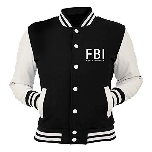 T-Shirtshock College-Jacke Schwarz FUN2726 FBI Female Body Inspector