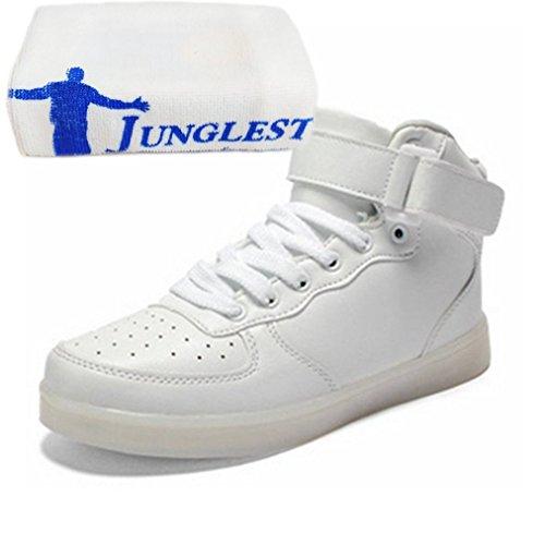 [Present:kleines Handtuch]JUNGLEST® Schwarz 7 Farbe Unisex LED-Beleuchtung Blink USB-Lade Turnschuh-Schuhe c29