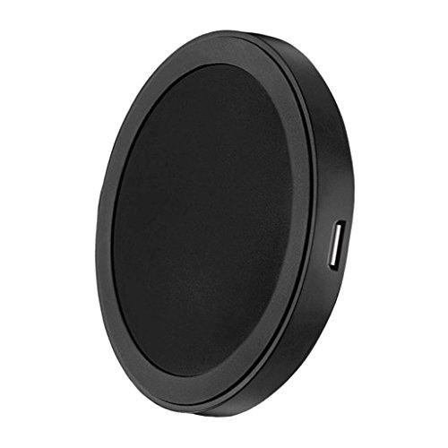 Baoblaze Wireless Senza fili Qi Caricatore Pad Ricarica Ultra Sottile per Samsung S9/S9+ S8/S8+/iPhone X/8/8 Plus - Nero