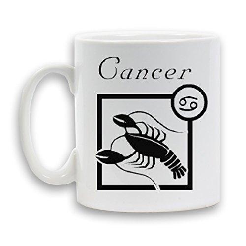Oroscopo Cancro segno zodiacale stampato in ceramica tazza da caffè tè, pesante regalo bianco