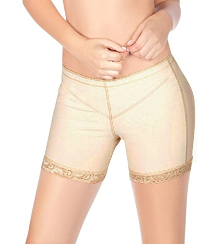 DODOING Damen Butt Lifter Shapewear Unterwäsche Panties Enhancer Boyshorts Taille Erweiterer Hose (Boyshort Hot)