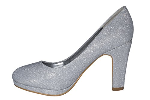 Elara - Scarpe con plateau Donna Argento (argento)