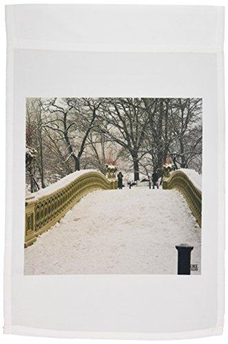 3dRose FL_10313_1 Schneeblizzard im Central Park Manhattan New York City, Gartenflagge, 30,5 x 45,7 cm
