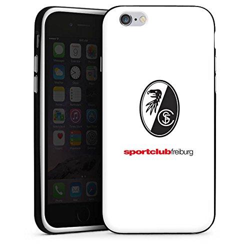 Apple iPhone X Silikon Hülle Case Schutzhülle SC Freiburg Fanartikel Fußball Silikon Case schwarz / weiß