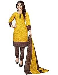 Crazy Women's Printed Cotton Salwar Suits With Cotton Dupatta Unstitched