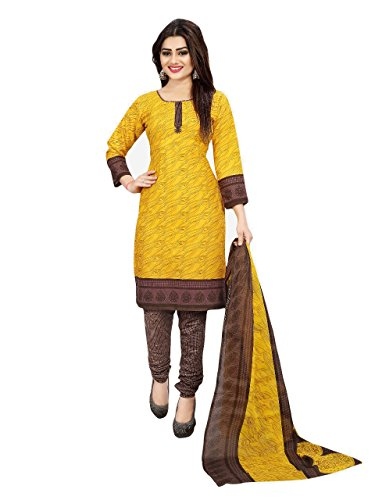 Crazy Women\'s Printed Cotton Salwar Suits with Cotton Dupatta Unstitched