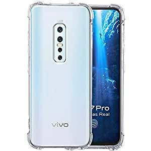 TheGiftKart Flexible Shockproof Crystal Clear TPU Back Cover Case with Cushioned Edges for Ultimate Protection for Vivo V17 Pro (Transparent)