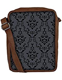 Snoogg Silvery Pattern Sling Bags Crossbody Backpack Chest Day Pack Travel Bag Book Bag For Men & Women