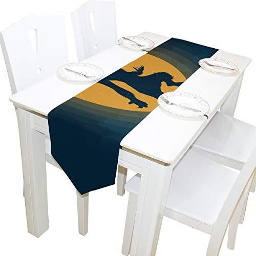 ette Mond Nacht Kommode Schal Tuch Abdeckung Tischläufer Tischdecke Tischset Küche Esszimmer Wohnzimmer Home Hochzeitsbankett Dekor Indoor 13 x 90 Zoll ()