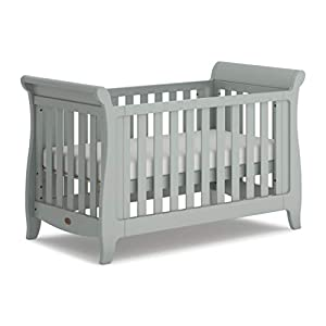 Boori Sleigh Expandable Cot Bed, Pebble   10