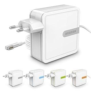 AURSEN 60W Ladegerät Adapter für Apple MacBook und Laptop mit Magsafe1 MacBook Pro Ladekabel, 1.75m Kabel Anschluss, Grau