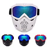 KD Gafas De Esquí Sobre Gafas Anti-Niebla Esquí/Snowboard Gafas para Hombres Y Mujeres Profesionales Motos De Nieve Skate Gafas,1