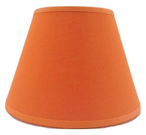 Kleine orange Kerze Clip auf Lampenschirm Deckenleuchte Kronleuchter Wandleuchte Lampenschirm handgefertigt Baumwolle Stoff.