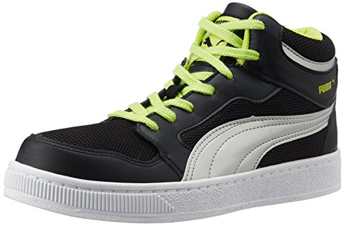 Puma Men's Rebound Mid Lite DP Black, Lime Punch and Puma Silver Sneakers – 6 UK/India (39 EU) 41VMGFKuyjL