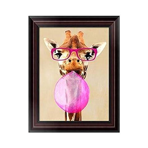 Dairyshop DIY Girafe 5D Peinture De Diamant Point De Croix Broderie Diamant Rond Painting Kits Salon Chambre Décoration