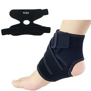 Supporto per caviglia piede regolabile, Kirolak traspirante caviglia a compressione, per caviglia, caviglia per allenamento sport e lesioni riabilitazione