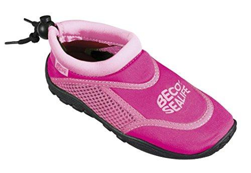 BECO Kinder Sealife Surfschuhe, Strandschuhe, Wattschuhe Surf und Badeschuhe, Pink, 24/25