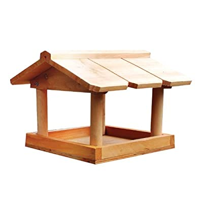 Zoozio® Hanging Wooden Bird Table from Zoozio