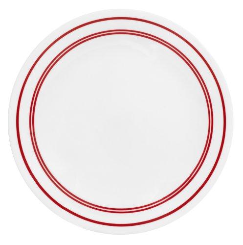 Corelle Livingware 8-1/2-Inch Luncheon Plate, Classic Cafe Red by CORELLE Corelle Classic Cafe