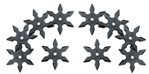 (Rubber Throwing Star/Knife Ninja Gummi Wurfstern- Mixed Shuriken#7 - 10 Stück, Roppo)
