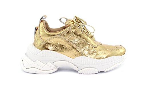 Jeffrey Campbell Sneaker LOFI Gold Crinkle Pat Calf Taglia 38 - Colore Oro