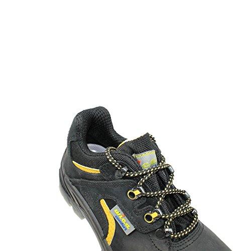 Alba wica chaussures de sécurité norme s3 sRC chaussures berufsschuhe businessschuhe plat noir Noir - Noir