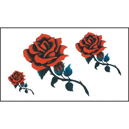 Gaddrt Flowers Tattoos Autoadesivo Dei Tatuaggi Temporaneo Del Corpo Impermeabile Dei Tatuaggi Dei Fiori Rimovibile-Removable