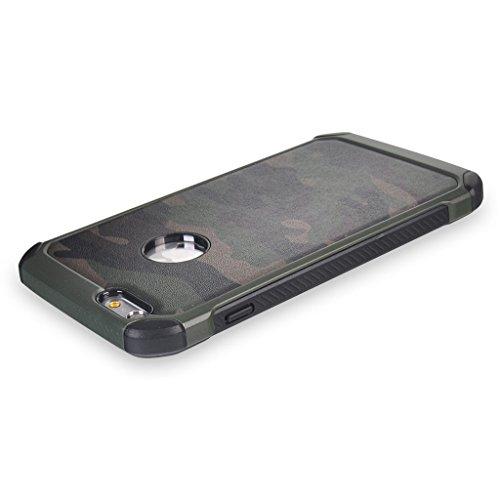 UKDANDANWEI Camo Series Hülle,Super Schild Hohe Gel Silikon Haut Slim Fit Zurück Schale Abdecken Schutzhülle Case Cover für iPhone 6S Plus / 6 Plus - Rosa Grün