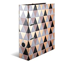 HERMA Design Folder A4 Finished Wide Made of Sturdy Cardboard with Foil Finish Ring Binder File 285 x 70 x 315 mm abstract, 1 Folder