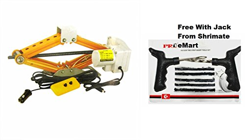 Codigo 2 Ton Car Automotive Electric Electronic Scissor Jack With R/C & Handy Carry Boxl - Puncture Kit Free