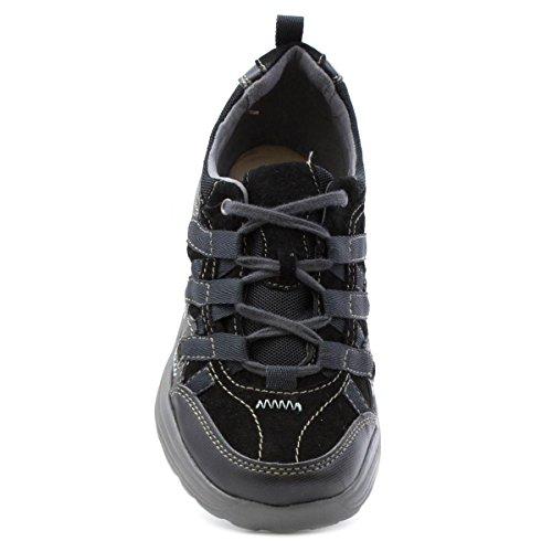 Earth Spirit , Chaussures de ville à lacets pour femme Noir