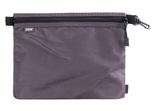 Organizer per Valigia o Zaino, GOX Premium 420D Nylon Borsa con Cerniera Portatile / Borsa Zip / Viaggi Dell'organizzatore di Immagazzinaggio / Borsa Zipper / Organizzatori di Viaggi (Large, Grigio)