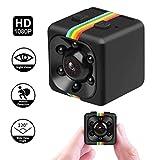 HankerMall Mini Caméra HD Caméscope 3.6mm Vision Nocturne FOV120 1080P Mini Enregistreur Vidéo Sport DV