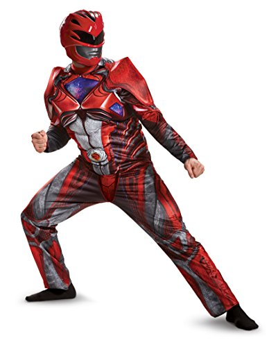 Red Ranger Deluxe Mens Fancy dress costume X-Large ()