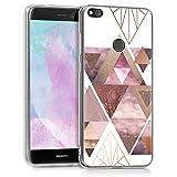 kwmobile Huawei P8 Lite (2017) Hülle - Handyhülle für Huawei P8 Lite (2017) - Handy Case in Glory Dreieck Muster Design Rosa