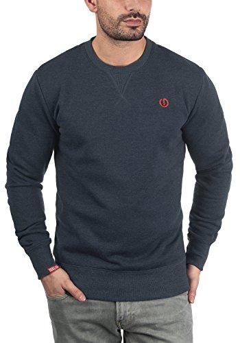 !Solid Benn O-Neck Herren Sweatshirt Pullover Pulli mit Rundhalsausschnitt, Größe:M, Farbe:Insignia Blue Melange (8991) - 2