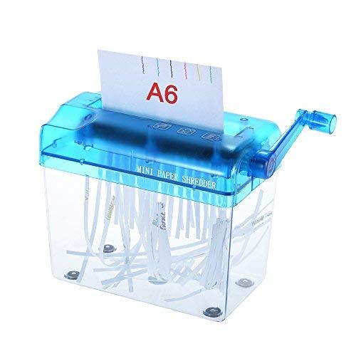 Aibecy a6 carta trituratore manuale mano documento file handmade taglio rettilineo macchina utensile per ufficio scuola uso casa